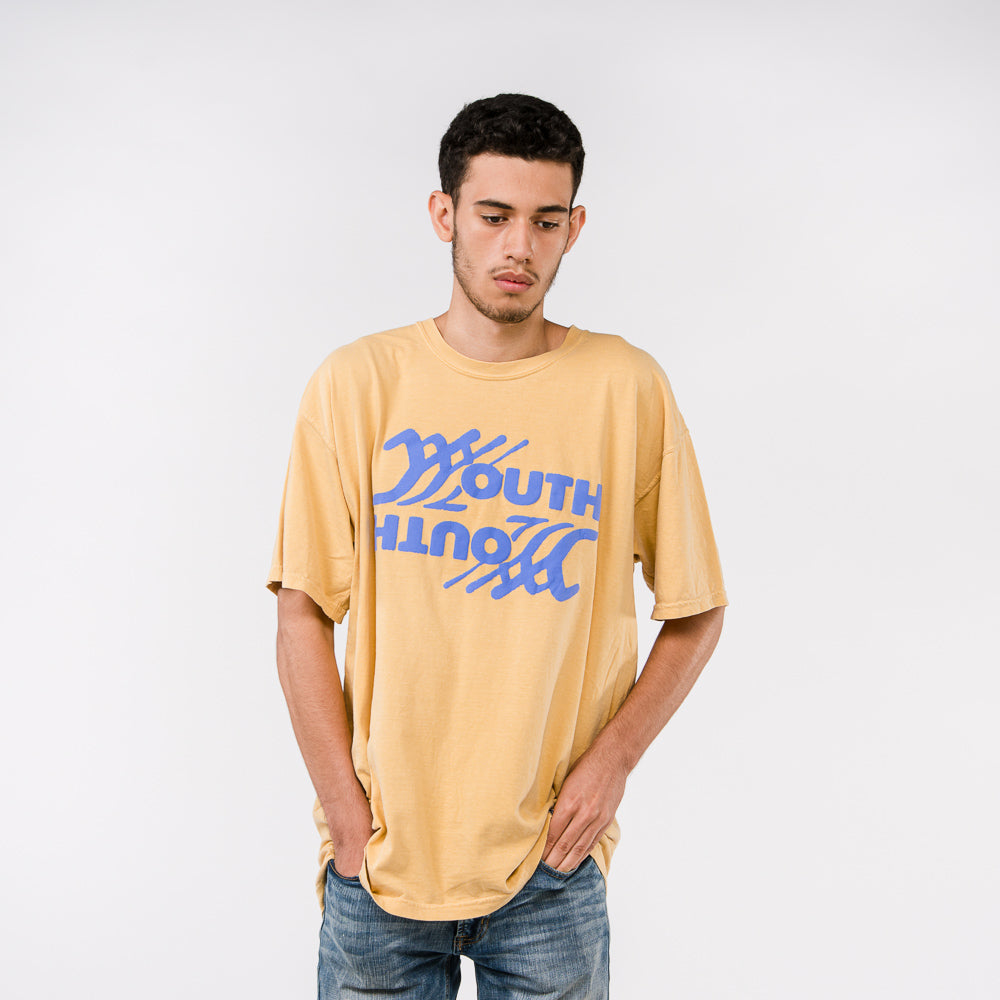 Youth Puff Print Tee - Mustard