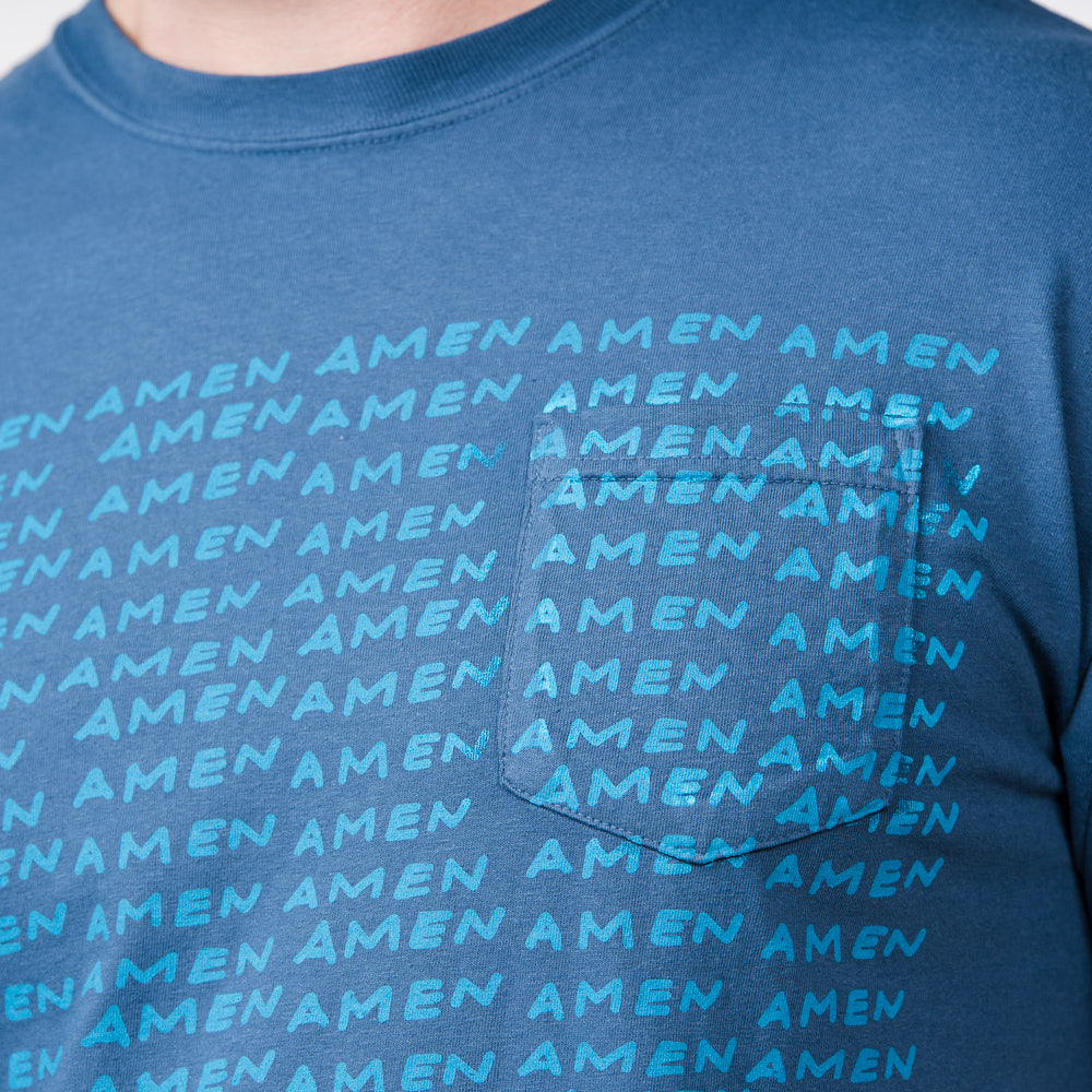 The Blessing - Blue 'Amen' Tee