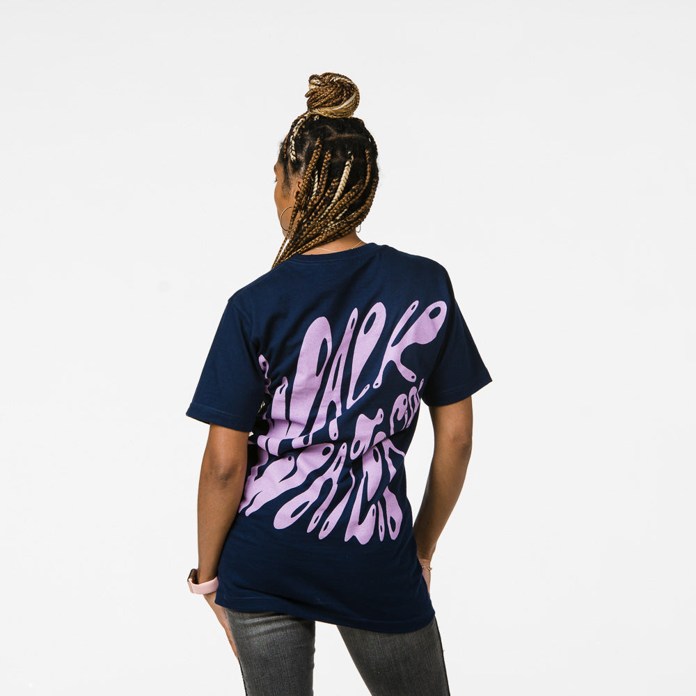 WALK ON WATER - Navy Tee