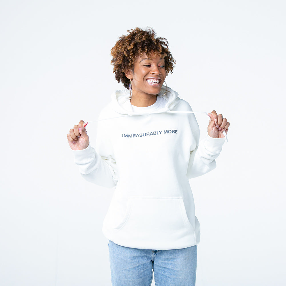 Immeasurably More Cream Hoodie