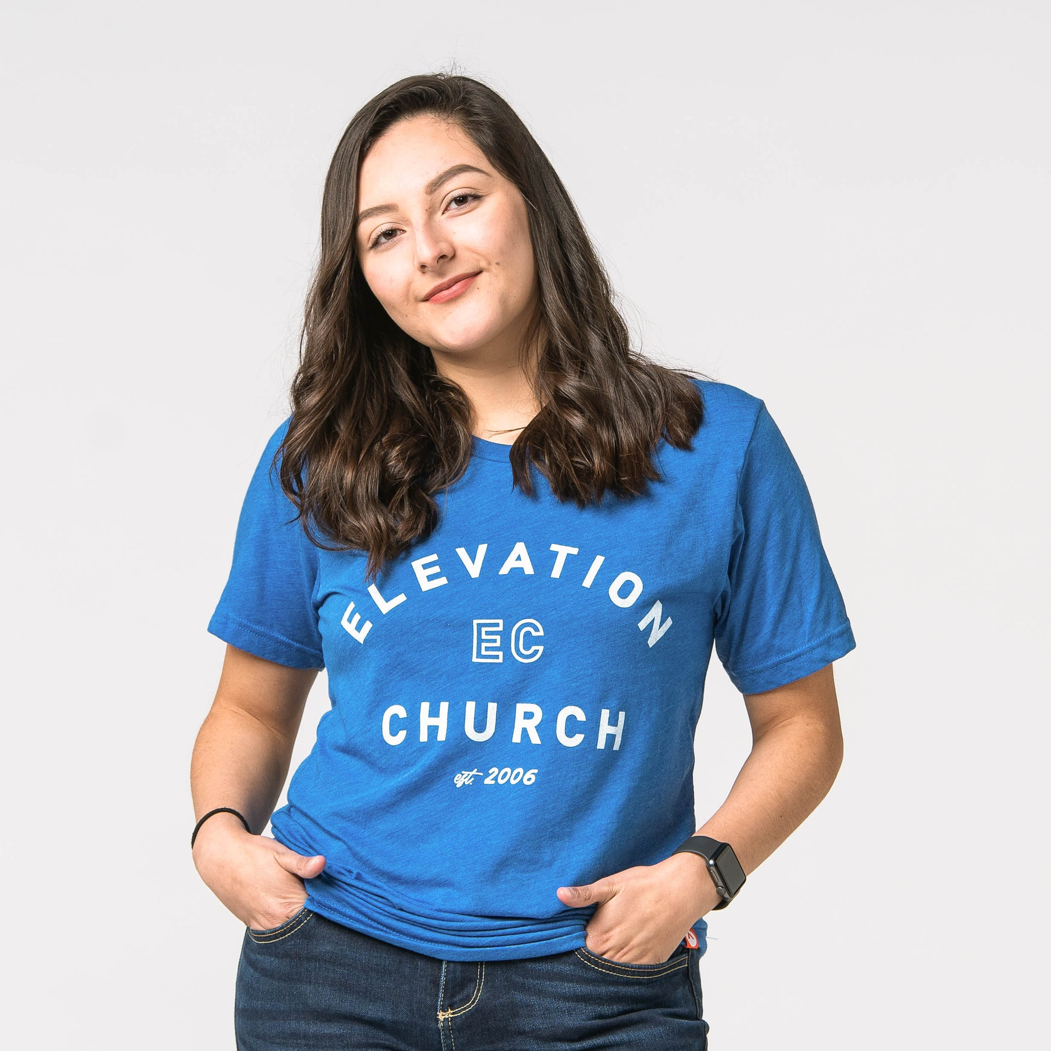 Elevation Church Royal Blue short sleeve tee