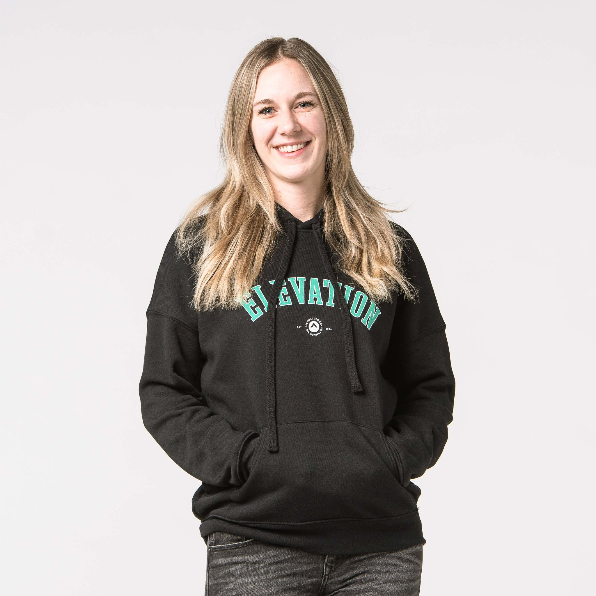 'Elevation' Black & Seafoam Hoodie