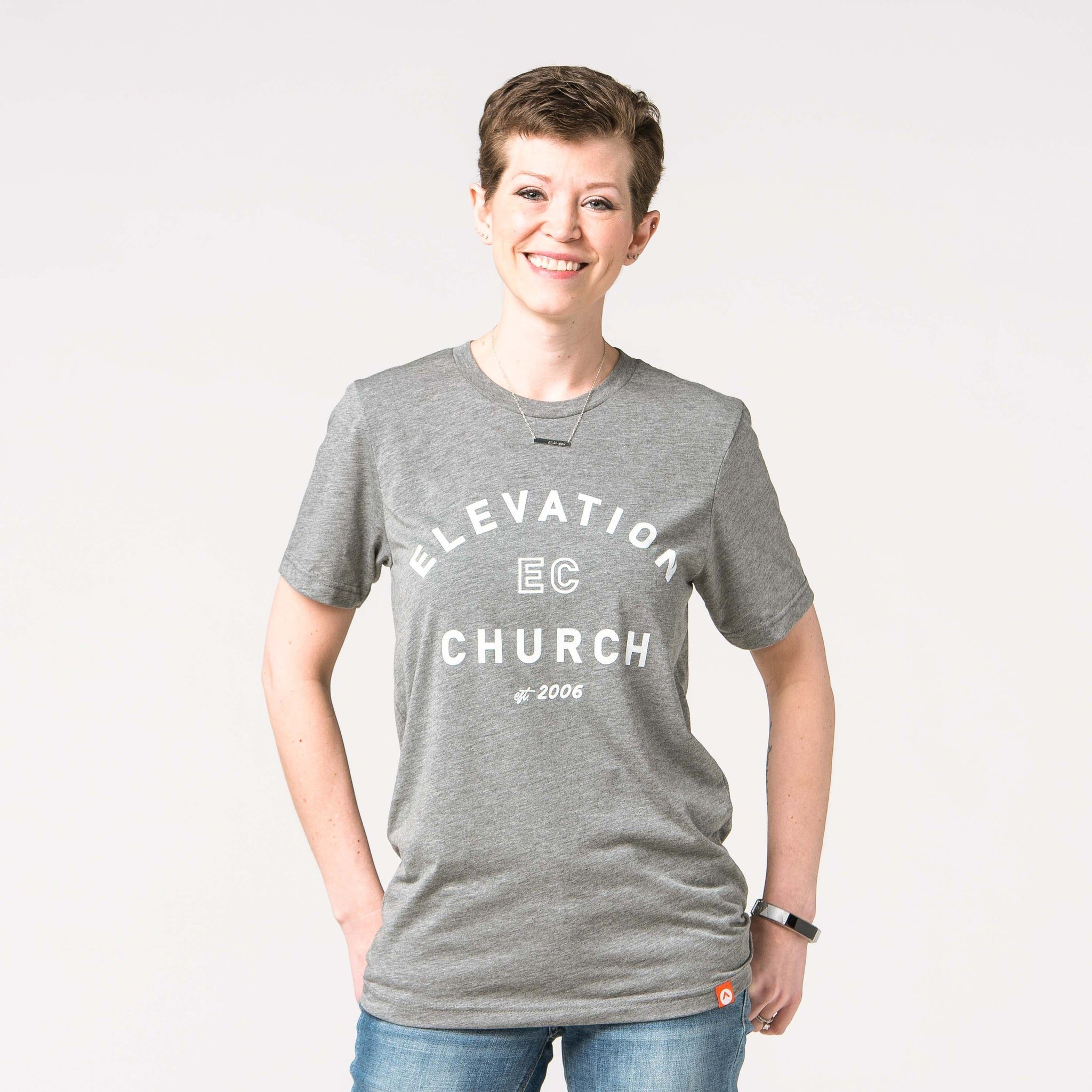 Elevation Church Heather Grey short sleeve tee