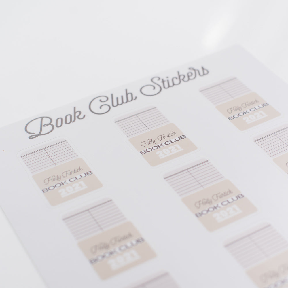 Book Club Sticker Sheet