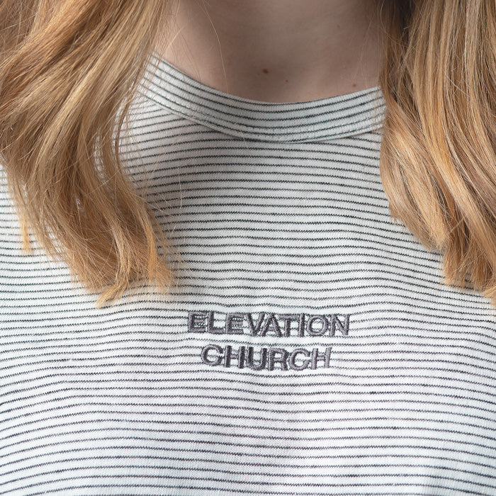'Elevation Church' stripe tee