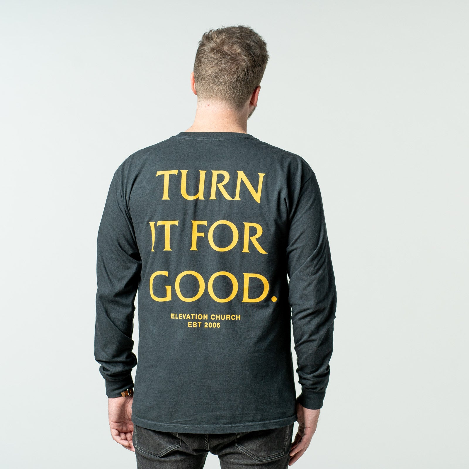 'Turn It For Good' long sleeve tee