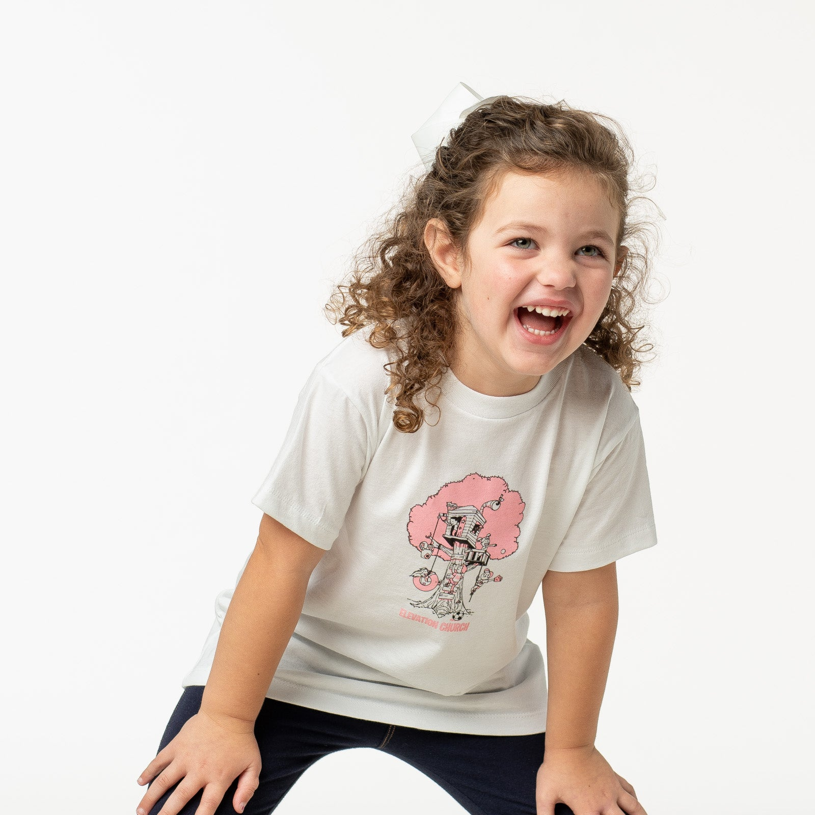 Kids Treehouse Tee - Pink