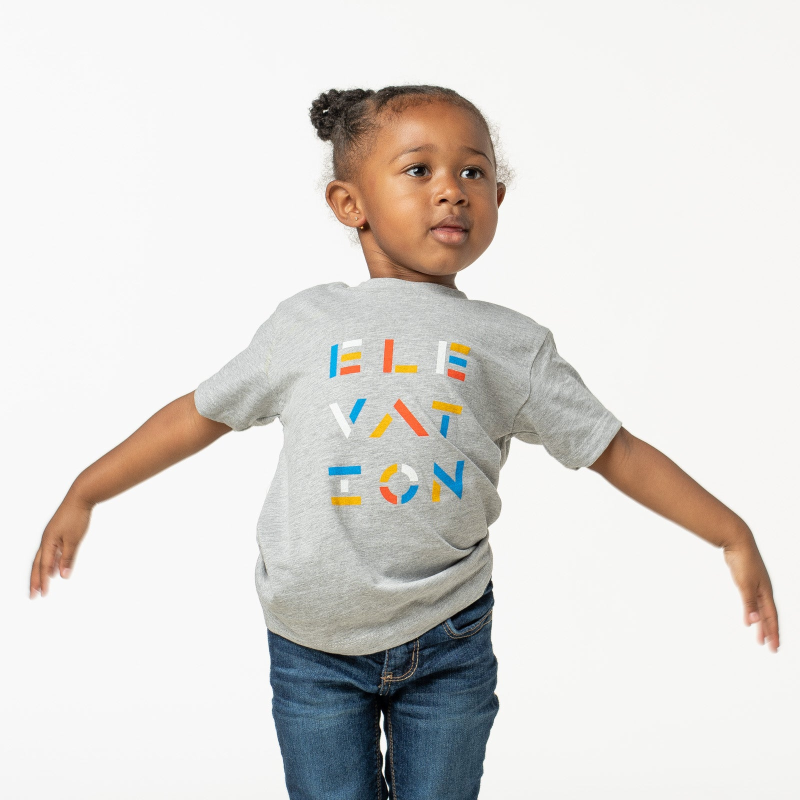 Kids 'Elevation' Grey Tee