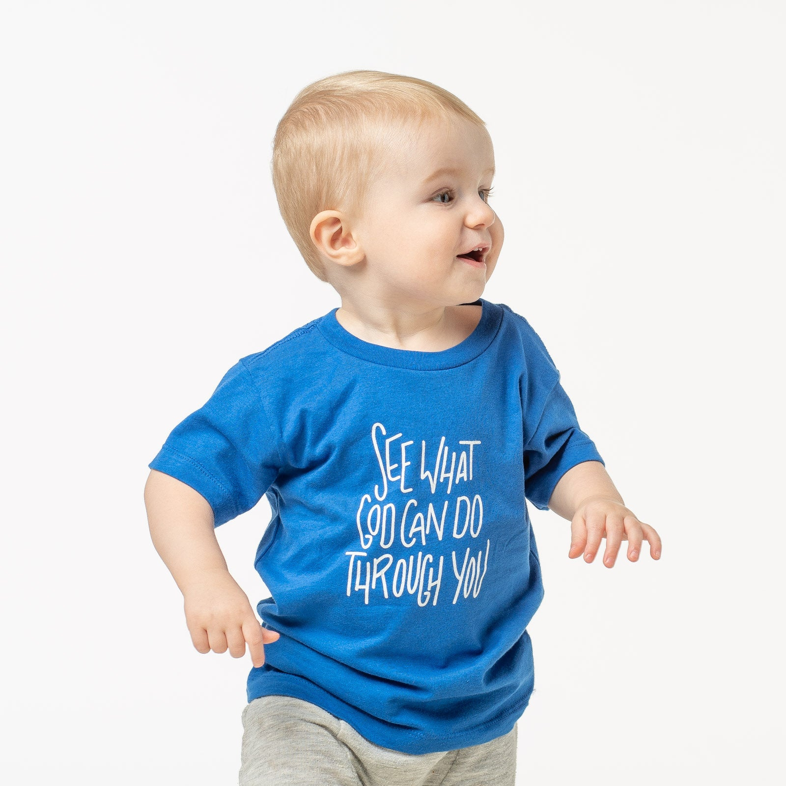Kids 'See What God Can Do Through You' Blue Tee
