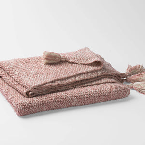 100% Organic Cotton Moss Knit Throw Blanket