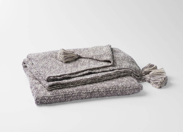 100% Organic Cotton Moss Knit Throw Blanket 1