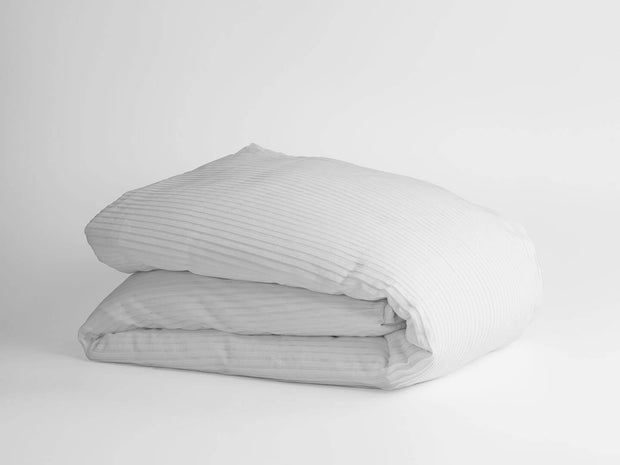 100% Organic Cotton Woven Pleated Duvet Cover 1