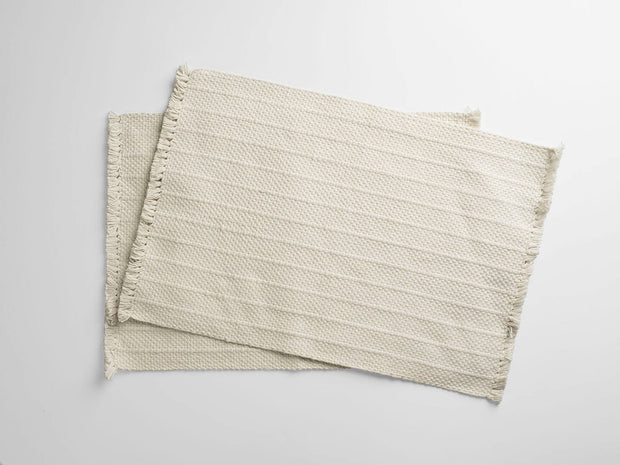 100% Organic Cotton Woven Placemats (Pair) 1