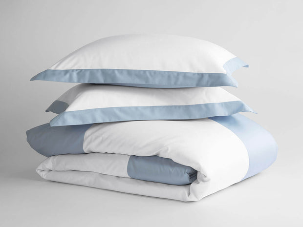 100% Supima Cotton, 500 Thread Count Sateen Banded Hotel Duvet Set 1