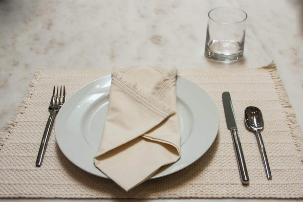 100% Organic Cotton Percale Napkins with Triple Edge Stitching (Set of 4) 1