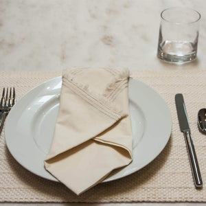 100% Organic Cotton Woven Placemats (Pair)