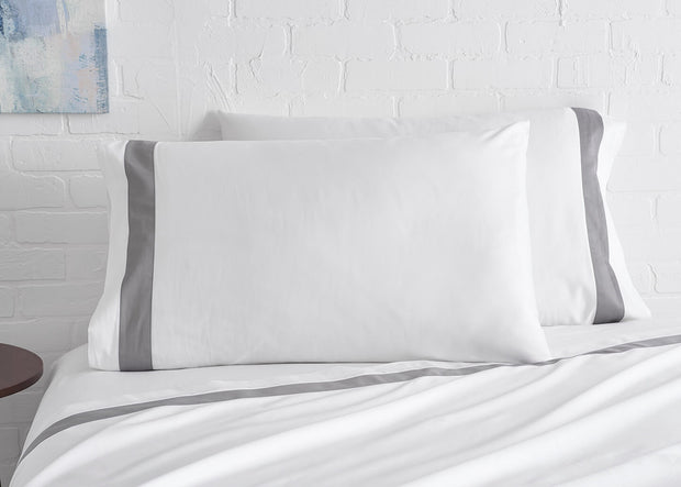 100% Supima Cotton, 500 Thread Count Sateen Banded Sheet Set 1