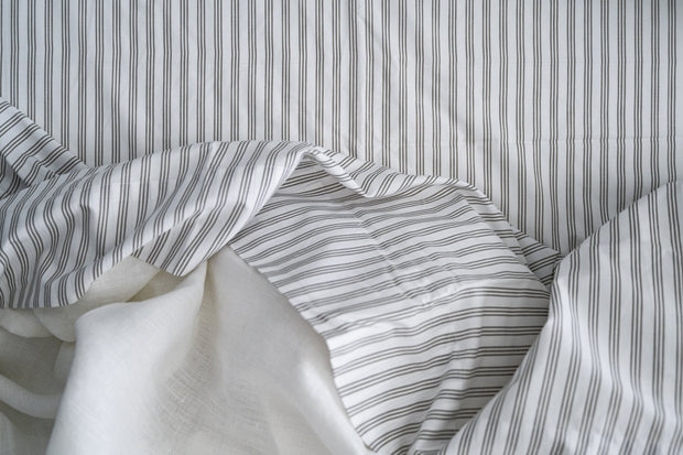100% Supima Cotton, 400 Thread Count Percale Stripe Sheet Set 1