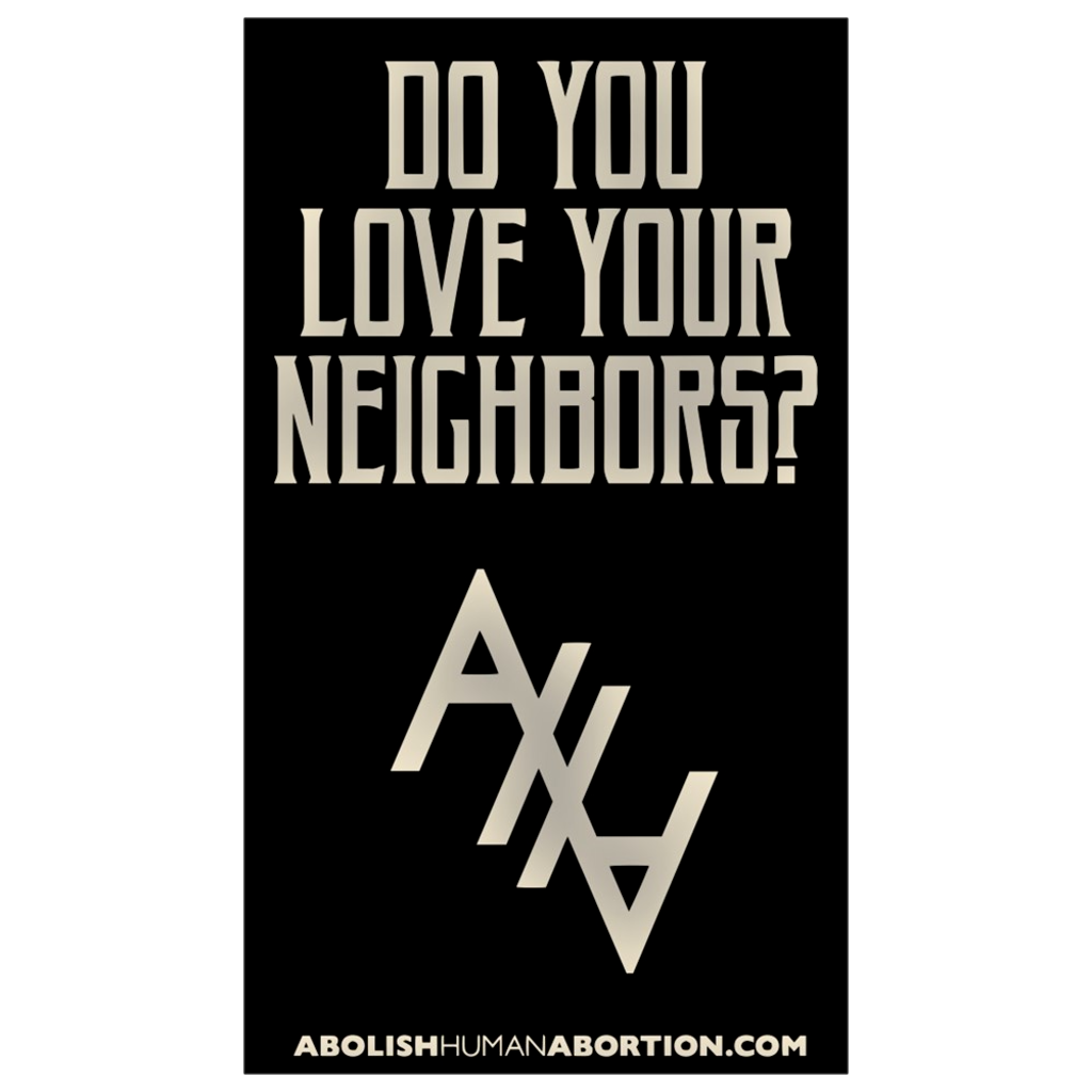 """Do You Love Your Neighbors?"" Dropcard"