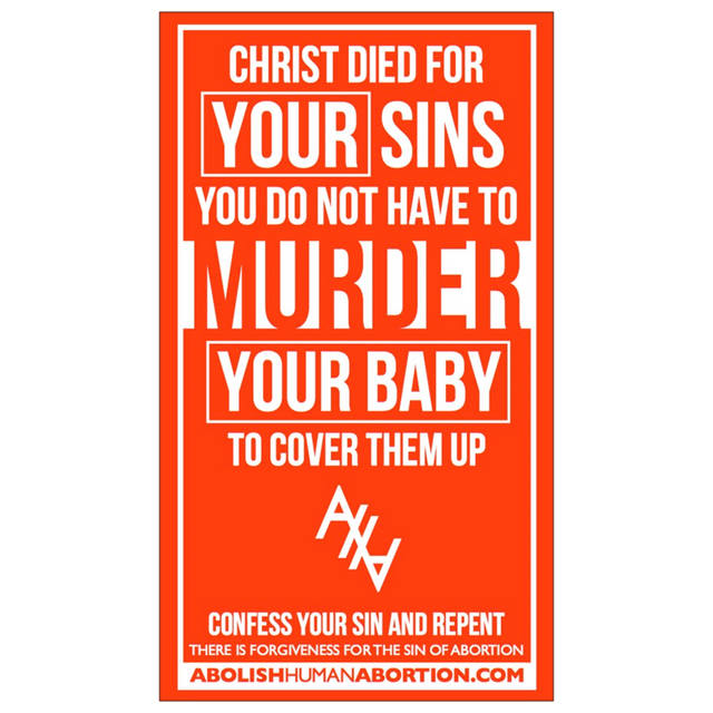 """Christ Died for Your Sins"" Dropcard"