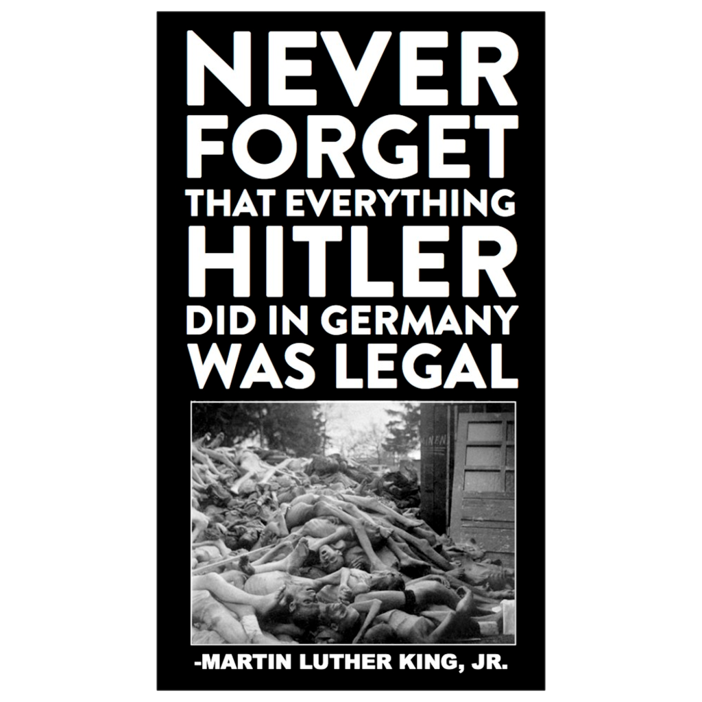 """Everything Hitler Did Was Legal"" Dropcard"