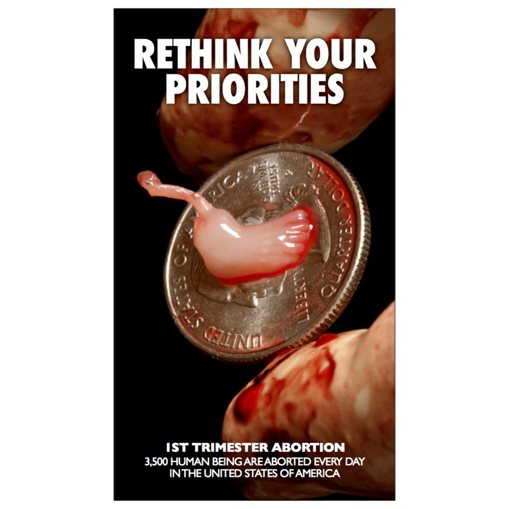 """Rethink Your Priorities"" Dropcard"