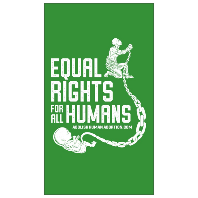 """Equal Rights for All Humans"" Dropcard"