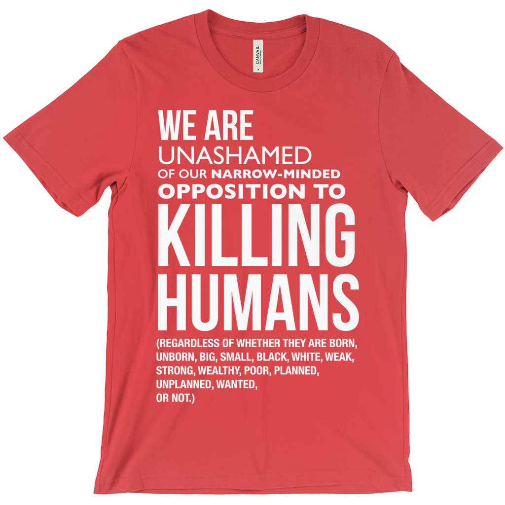 Opposition To Killing Humans T-Shirts