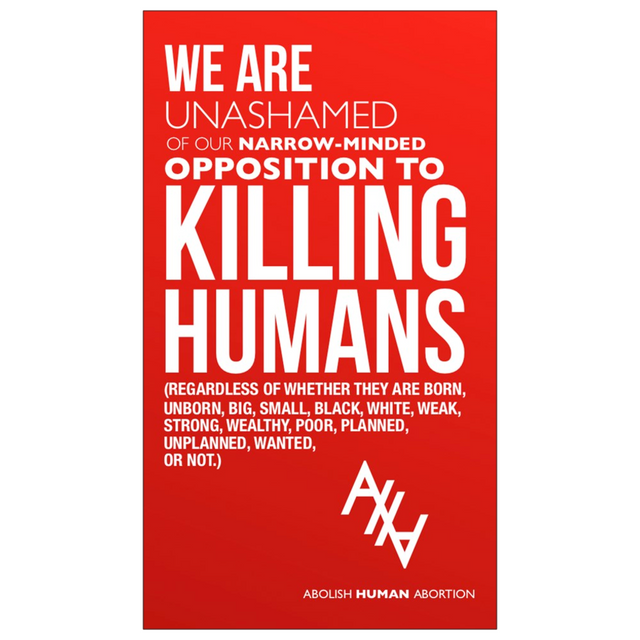 """Opposition to Killing Humans"" Dropcard"