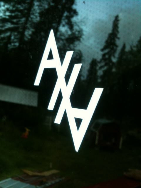 AHA Decal (White)