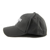 Hats - Charcoal Gray Abolitionist Hat (Elastic Band, Curved Bill)