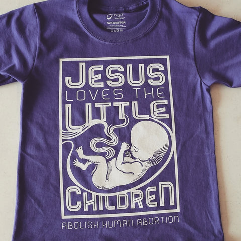 Youth Jesus Loves The Little Children (Purple)