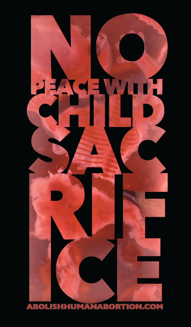 """No Peace with Child Sacrifice"" Dropcard"