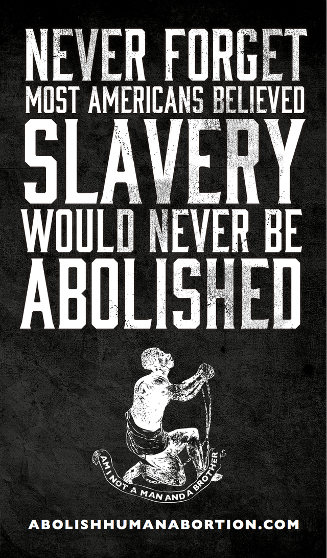 Never Forget Slavery Was Abolished Drop Card