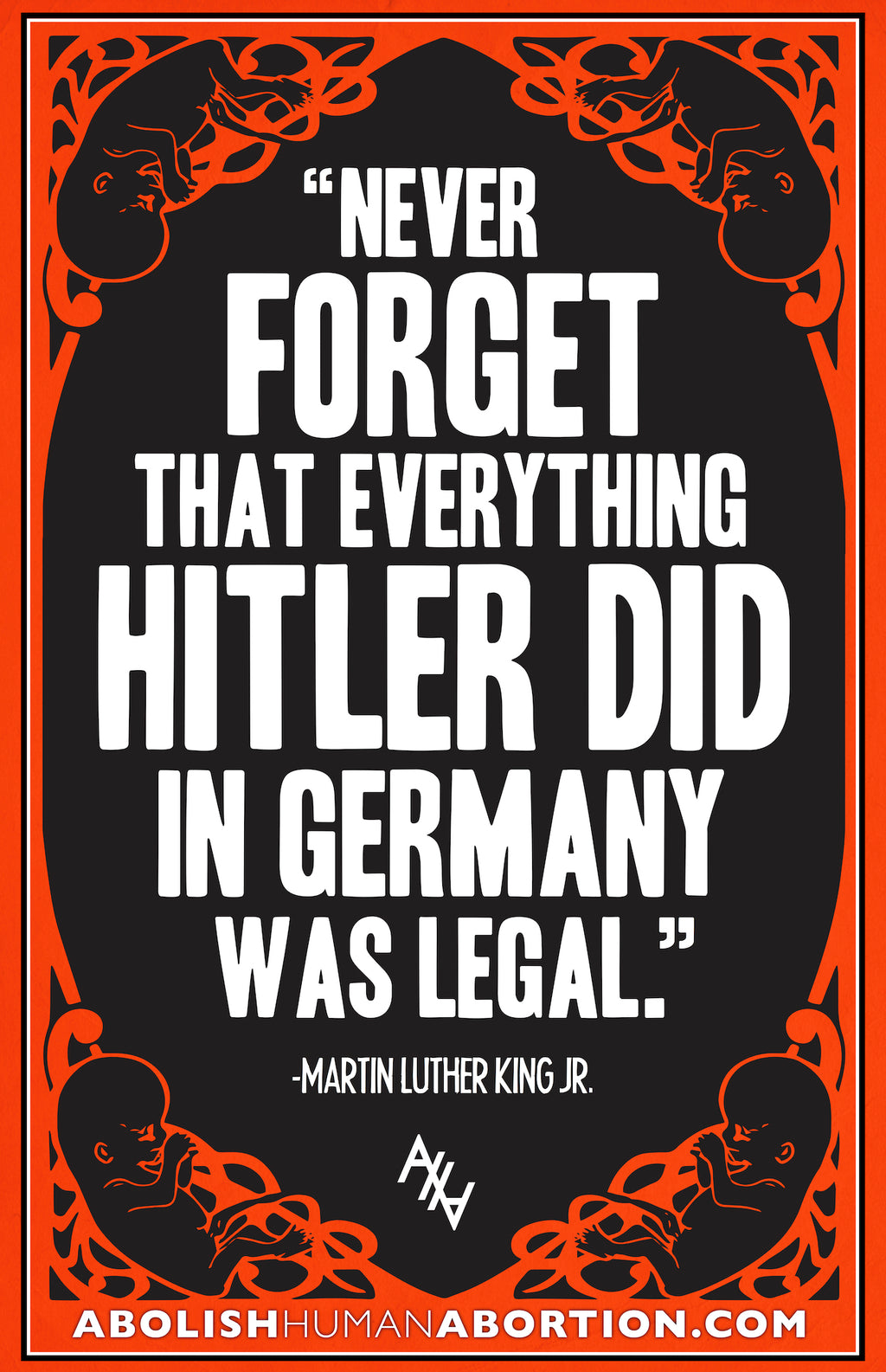 Never Forget That Everything Hitler Did in Germany was Legal Sign