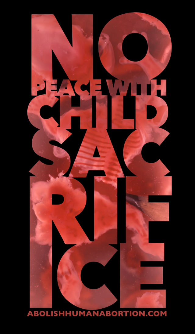No Peace With Child Sacrifice Drop Card