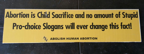 Abortion Is Child Sacrifice Sign (Promo Only) 1x48