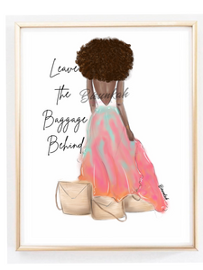 """Baggage"" Fashion Illustration Print - Unframed"