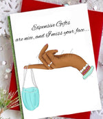 """Fashionably Safe"" Greeting Card - Multiple Skintones"