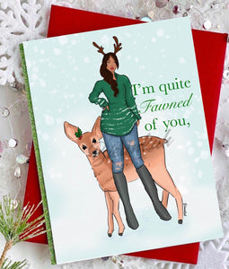 """Fawned of You"" Greeting Card"