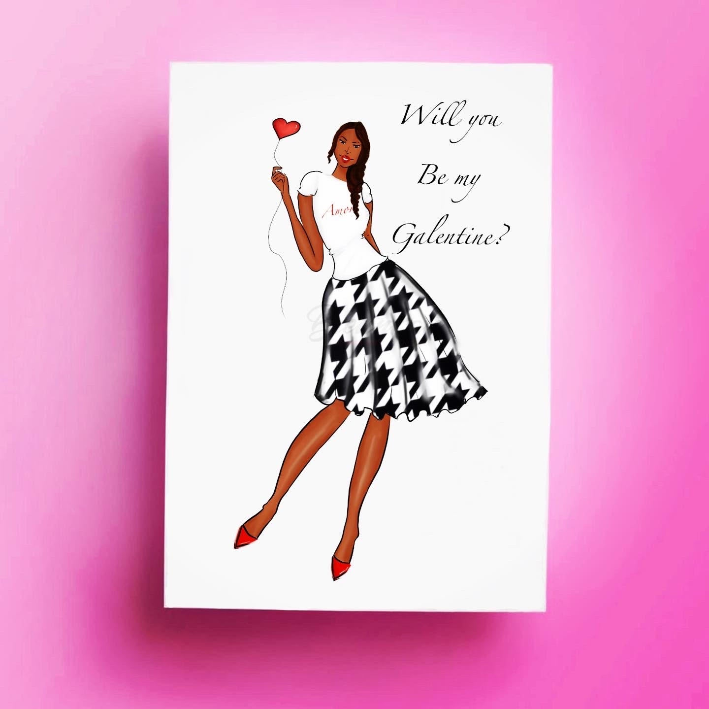 """Galentine"" Card - Multiple Skintones"