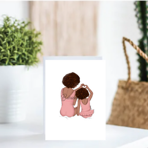 """Mini Me"" Card - Multiple Skintones and Hairstyles"