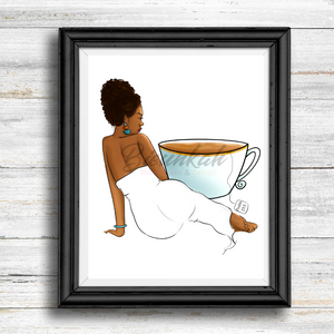 """Fill Me Up"" Fashion Illustration Print - Unframed"
