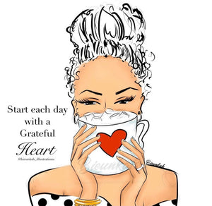 """Grateful"" Card - Multiple Skintones"