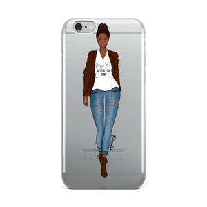 """Messy Bun, Getting Ish Done"" iPhone Case"