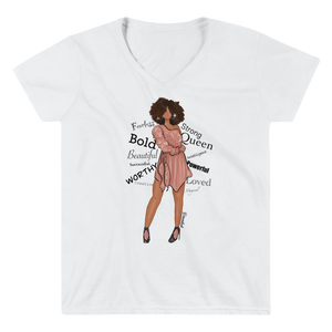 """Affirmations"" Women's Casual V-Neck Shirt"