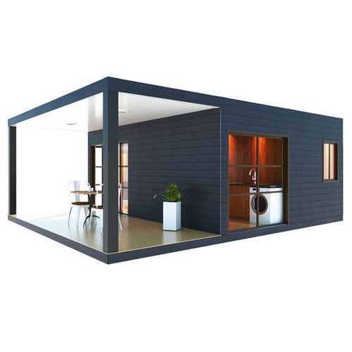 1 Bedroom Container Home with deck drawing