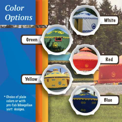 Color Options for the 26.3' Denali Event Yurt