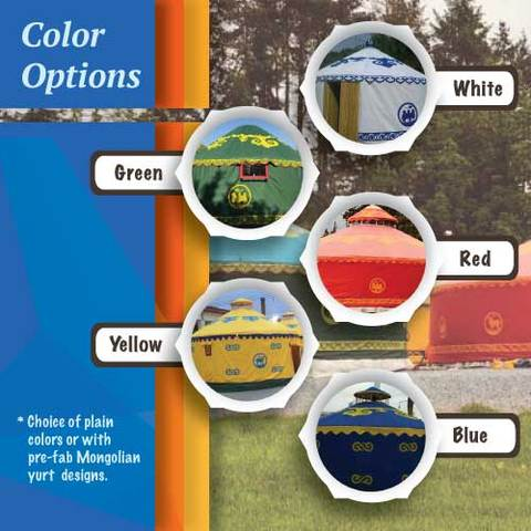 Customize your SimpleTerra Yurt Home Fabric Color