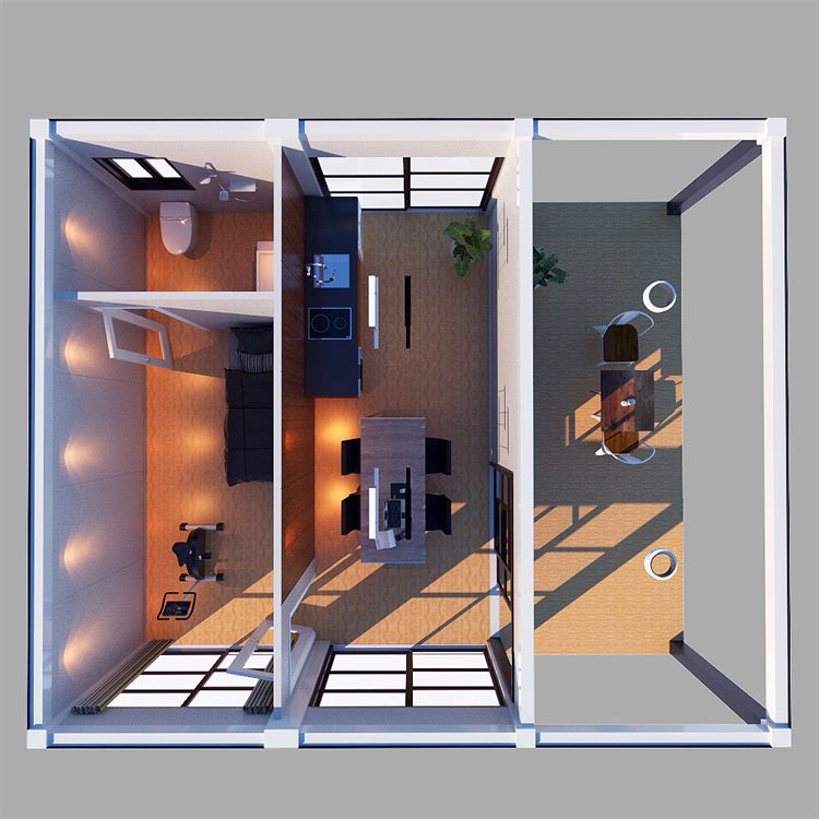 3D Floor Plan Of Shipping Container Home